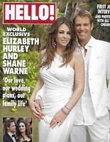 Hello Magazine Elizabeth Hurley Brad Pitt Angelina Jolie Carla Romano Wedding