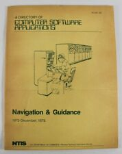 A Directory Of Computer Software Applications Navigation & Guide 1970-Dec, 1978