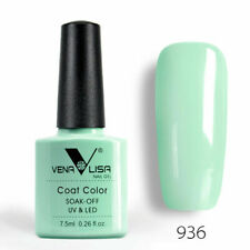 New VENALISA Nail Gel Polish Colour Coat 7.5ml Soak Off UV / LED 60 Colours UK