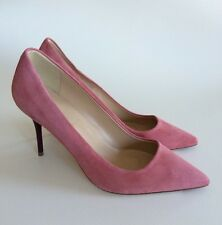 NEW $255 JCrew Elsie Suede Pumps Enamel Heel Womens 6.5 Pink Italy E0039