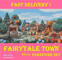 Outdoor Fairytale Town - Furniture Set 40 pcs Fastest!!!