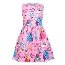 US STOCK !  Girls Kids Unicorn Rainbow Fancy Party Holiday Birthday Dress