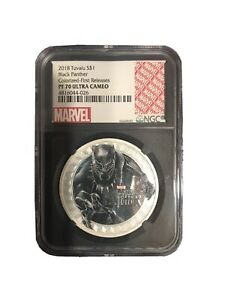 2018 Tuvalu 1 oz Silver Marvel Black Panther Proof PF70 NGC First Releases