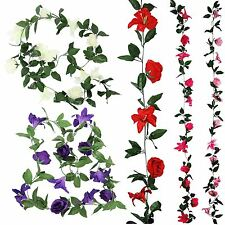 Rose and Lily Flower Garland! Artificial Fake Flowers Vine Ivy Trellis