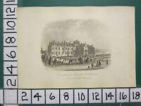 C1860 Piccolo Antico Eastbourne Stampa ~ Convalescenza Ospedale Da The Grounds