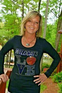 Wildcats basketball rhinestone shirt XS S M L XL XXL 1X 2X 3X 4X 5X Villanova
