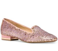 NIB Size 11 Michael Kors Alyssa Soft Pink Rose Gold Slip On Loafers $135 Retail