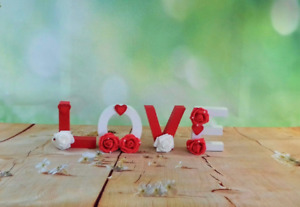 Wooden décor LOVE sign, Standing wooden LOVE sign, 3D standing LOVE letters