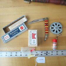 New listing Remington fish knife Usa , vintage bobber, Mech. reel, fishing lure (l#10914)