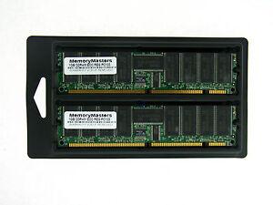 2GB 2X1GB MEMORY 128X72 168PIN PC133 6NS 3.3V ECC REG SDRAM RAM DIMM