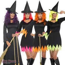 Halloween Vestido De Lujo # señoras Bruja Disfraz Tamaño 8-18
