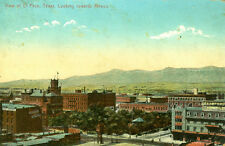 El Paso,TX. A 1911 City view showing the Crawford Hotel