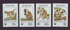 St.Kitts 184-87** WWF 1986 MEERKATZE WILD LIFE