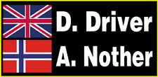 Rally / Racing Stickers. X 2.  Size. A5.  Personalised Name/s + Flag/s