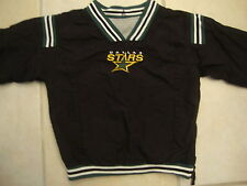 Vintage NHL Dallas Stars Black Gray Reversible Pullover Toddler Kids Jacket 4T