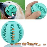 Bola de goma perro masticar juguete masticar pelota bolas de limpieza dientes GN