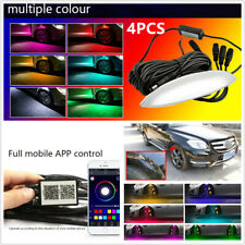 4x Universal Car Wheel Eyebrow LED Colorful Music App Control Ambient light Lamp