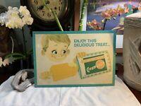 Creamsicle Popsicle Orange Ice Cream Bar Soda Shop Retro Metal Sign Vintage RARE