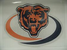 12-Inch Chicago Bears Logo Perforated Vinyl Window Graphic