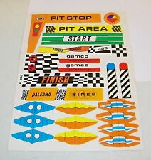 Vintage Original 1971 Ideal Toys Gamco Racing Track Sticker Sheet Unused 4L 0169
