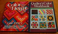 Lot Of 2 Quilting Colors Books~Softcover~Vgc~Lot# Ff