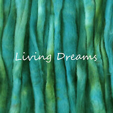 SPIN FELTING hand dyed MYRTLE GREEN Top Wool Roving Craft Fiber NEEDLE SOAP WET