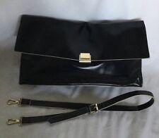 XLarge ZARA BASIC Black Faux Leather Clutch/Shoulder Bag / Handbag