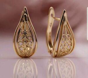 Schöne Ohrringe mit 14 Karat (585) Gold beschichtet