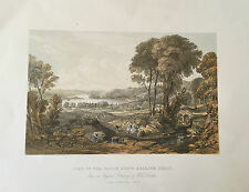 c1890 -  View of the Clyde above Erskine Ferry.  Fine lithograph.