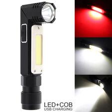 CREE XPG+COB LED Rechargeable Work Light Magnet Flashlight Foldable Torch Lamp