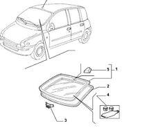 Fiat Multipla <2004 Front Windscreen Rubber Seal New & Genuine 46510782