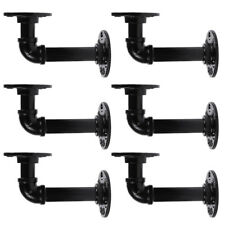 6 Industrial Wall Mount Iron Pipe Shelf Holder Bracket for Wood Floating Shelves