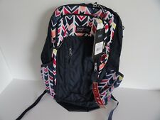 Jansport Beacon JS NAVY WATERCOLOR  CHEVRON Backpack Bag  19H x 11.4W x 6.5D NWT