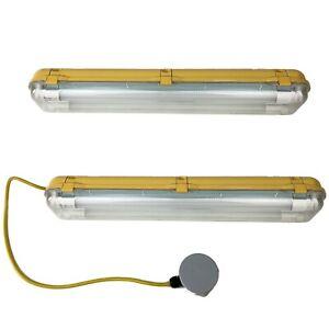 2ft LED Batten Light Workshop Garage Ceiling Hanging Outdoor Waterproof Shed