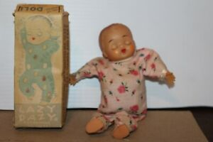 NICE VINTAGE WIND UP  ANIMATED LAZY DAZY BABY DOLL  in BOX