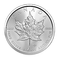 Lot of 10 x 1 oz 2020 Canadian Maple Leaf Silver Coin