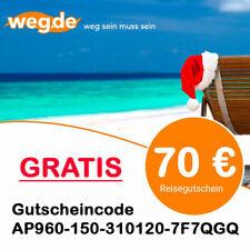 70,-€ WEG.de Gutschein Pauschalreise Flug Hotel Reisegutschein Urlaubsgutschein