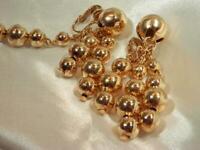 SO Cool Vintage 1960's Gold Tone Dangle Clip Earrings 162JL9
