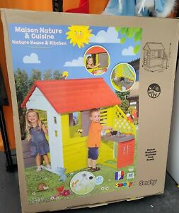 Smoby Nature Playhouse with Kitchen | Kids Indoor and Outdoor Playhouse Toy