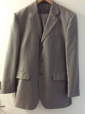 "WILLERBY SMITH LONDON SIZE 40R (W34"" L30"") GREY STRIPE MENS 2 PIECE SUIT"