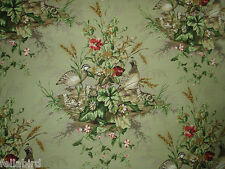 """SCALAMANDRE CURTAIN FABRIC DESIGN """"Edwin's Covey"""" 3.6 METRES MULTI ON WILLOW"""