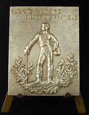 Médaille société militaire d'escrime lieutenant Delcambre bataillon de chasseurs