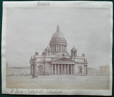 St Isaac's Cathedral St Petersburg Imperial Russia Antique Albumen Photo 1890