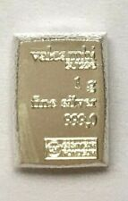 One Gram .999 Fine Silver Valcambi Suisse Bar
