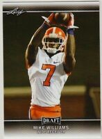 MIKE WILLIAMS 2017 LEAF DRAFT ROOKIE CARD #51! CLEMSON TIGERS!