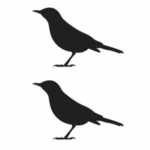 Qty 2 Bird Window Stickers, Anti Bird Strike Window Decal Pack K Any Colour