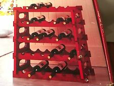 5 Tier Mahogany Wine Rack Holds 30 Bottles