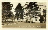 Walla Walla WA Court House Real Photo Postcard