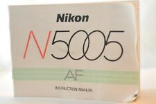 Nikon N5005 F-401X Camera instruction manual ORIGINAL owner's guide