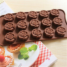 Flower Rose Silicone Mould Cake Decorating Chocolate Baking Mold Wax Melts Ice